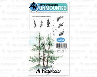 Art Impressions Unmounted Fir Tress Set Stamp Set 4960 - WC