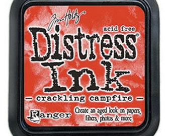 Tim Holtz Ranger Distress Ink-Crackling Campfire-Ink Pad