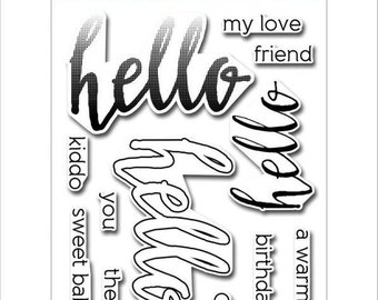 Altenew Halftone Hello Stamp Set ALT1091