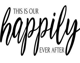 "Magnolia Design Co-Happily Ever After-Reusable Adhesive Silkscreen Stencil 5""X7""-Chalk Art DIY"