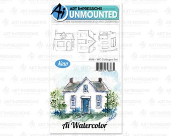 Art Impressions Unmounted Cottages Stamp Set 4958 - WC