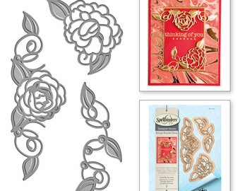 Spellbinders Shapeabilities Camellia Accents Etched Dies from the Rouge Royale Deux Collection by Stacey Caron S4-737