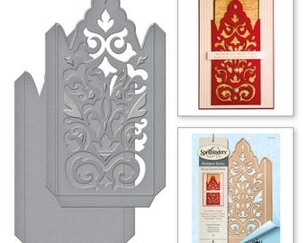 Spellbinders   Shapeabilities Damask Pocket Etched Dies from the Rouge Royale Deux Collection by Stacey Caron S5-295