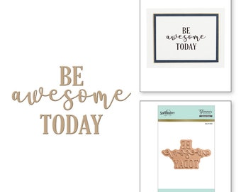 Spellbinders Be Awesome Glimmer Hot Foil Plate GLP-011