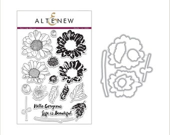 Altenew Spring Daisy Stamp & Die Bundle