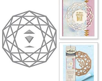 Spellbinders Shapeabilities Decagon View Kaleidoscope by Lene Lok Etched Dies S4-698