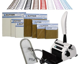 "Zutter Bind it All Bundle ""The Perfect Binding Machine"" Brand New ""White"" Color"