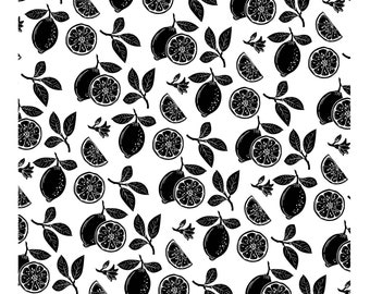 "Magnolia Design Co-Lemon Pattern-Reusable Adhesive Silkscreen Stencil 15"" x 15""-Chalk Art DIY"