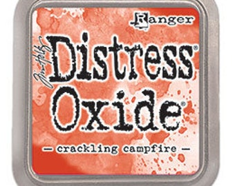 Tim Holtz Ranger Distress Oxide-Crackling Campfire-DIstressed Oxide Ink Pad