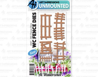 Art Impressions Unmounted Fence Die Set 4967 - WC