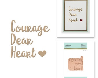 Spellbinders Courage Dear Heart Glimmer Hot Foil Plate GLP-002