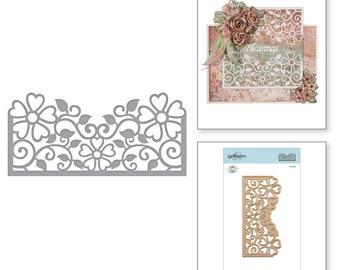 Spellbinders Shapeabilities Top Floral Panel Etched Dies Blooming Garden by Marisa Job S4-915