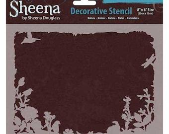 "Crafter's Companion Nature Sheena Douglass Decorative Stencil, 8"" by 6"""