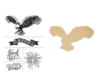 "Magnolia Design Co- Eagle MDF 12 in""-Chalk Surface-Chalk Art DIY (Stencil sold Separately)"