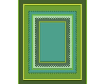 Heartfelt Creations Frame A Card Eyelet Rectangle & Basics Die HCD2-7189