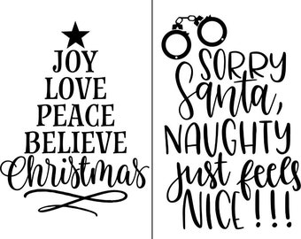 "Magnolia Design Co-Sorry Santa-Reusable Adhesive Silkscreen Stencil 8.5"" X 11""-Chalk Art DIY"