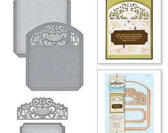 Spellbinders   Shapeabilities Pocket Elegante Etched Dies S5-287