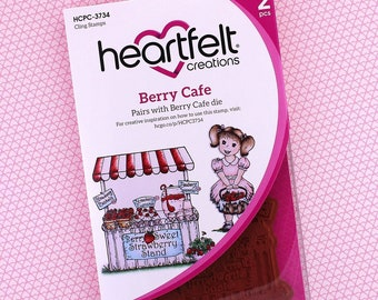 Heartfelt Creations Berry Cafe Cling Stamp Set HCPC-3734