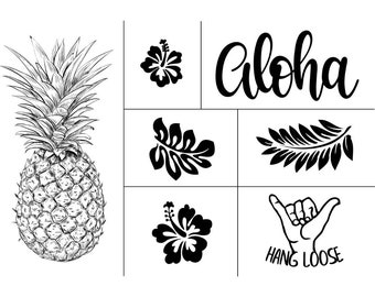 "Magnolia Design Co-Aloha-Reusable Adhesive Silkscreen Stencil 12"" x 18""-Chalk Art DIY"