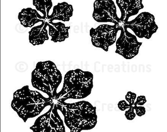 Heartfelt Creations Bold Vintage Floret Cling Stamp Set HCPC-3501