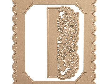 Spellbinders Shapeabilities Floral Photo Frame  Etched Dies Flower Garden by Sharon Sowell S4-850
