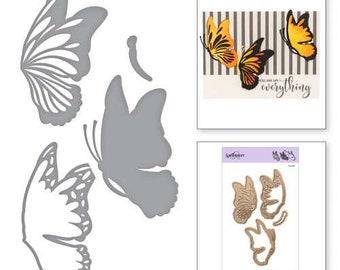 Spellbinders Shapeabilities Indie Line Layered Monarch Butterfly Layering Die Set Etched Dies S4-920