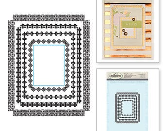 Spellbinders Rectangle Radiance Stamps SBS-094
