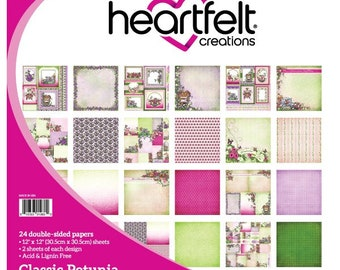 "Heartfelt Creations Classic Petunia Collection 12"" x 12"" HCDP1-260"