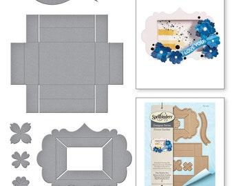 Spellbinders Shapeabilities Tiny Shadow Box Etched Dies Flower Garden by Sharyn Sowell S5-339