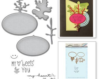 Spellbinders Market Fresh by Debi Adams Beets Me Stamp and Die Set SDS-049
