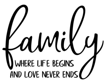 "Magnolia Design Co-Family Love-Reusable Adhesive Silkscreen Stencil 8.5"" x 11""-Chalk Art DIY"