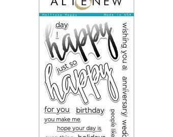 Altenew Halftone Happy Clear Stamp Set ALT1094