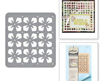 Spellbinders Die D-Lites Shapeabilities Tiny Floral Etched Dies from the Joyous Celebrations Collection by Sharyn Sowell S2-262