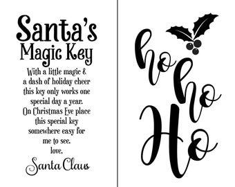 "Magnolia Design Co-Santas Magic Key-Reusable Adhesive Silkscreen Stencil 8.5"" x 11""-Chalk Art DIY"