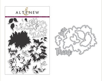 Altenew Majestic Bloom Stamp & Die Bundle
