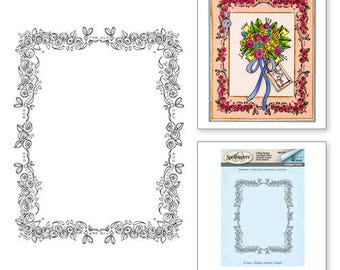 Spellbinders Rose Border Stamp from the Happy Grams #2 Collection by Tammy Tutterow SBS-074