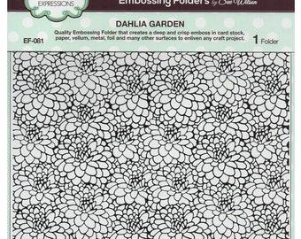 Creative Expressions Sue Wilson Embossing Folder 8 x 8 - Dahlia Garden EF-081