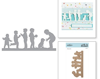 Spellbinders Shapeabilities Little Boys at Play Etched Dies Little Loves by Sharyn Sowell S4-894