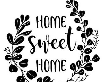 "Magnolia Design Co-Home Sweet Home-Reusable Adhesive Silkscreen Stencil 5""X7""-Chalk Art DIY"