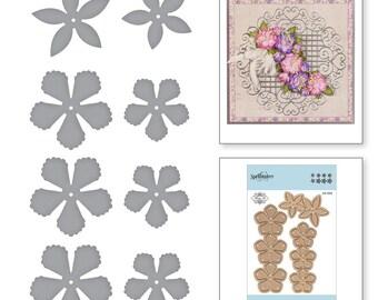 Spellbinders Shapeabilities Rose Buds Etched Dies Blooming Garden by Marisa Job S3-335