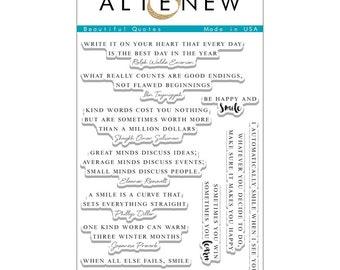 Altenew Beautiful Quotes Clear Stamp Set ALT1103