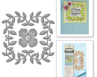 Spellbinders Shapeabilities Border Flower Etched Dies from the Joyous Celebrations Collection by Sharyn Sowell S3-266