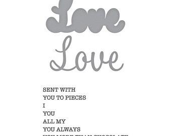 Spellbinders Love Expressions Stamp and Die Set - Exclusive SDS-156