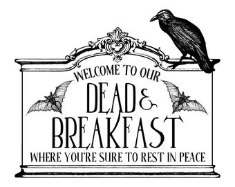"Magnolia Design Co-Dead Breakfast-Reusable Adhesive Silkscreen Stencil 8.5"" x 11""-Chalk Art DIY"