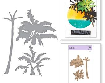Spellbinders Shapeabilities Exclusives Layered Palm Tree Layering Die Set Etched Dies S4-922