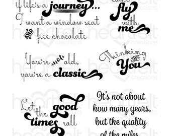 Heartfelt Creations Good Times Sentiments Stamp Set HCPC-3802