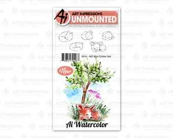 Art Impressions Unmounted Mini Critter Stamp Set 5016 - WC