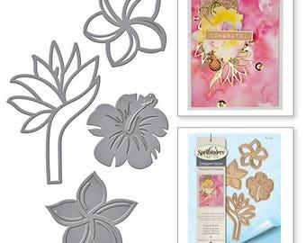Spellbinders  Shapeabilities Tropical Florals Etched Dies Tropical Paradise by Lene Lok S4-723