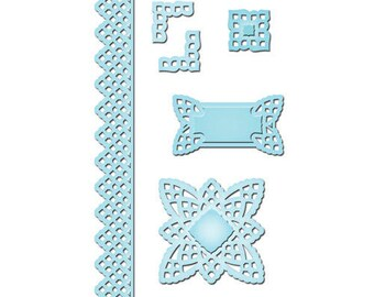 Spellbinders Shapeabilities Lace Doily Accents Etched Dies S5-062