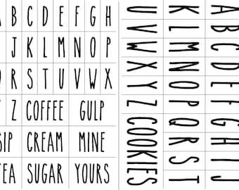 "Magnolia Design Co-Skinny Font Bundle-Reusable Adhesive Silkscreen Stencil 12"" x 18""-Chalk Art DIY-2 PC Bundle"
